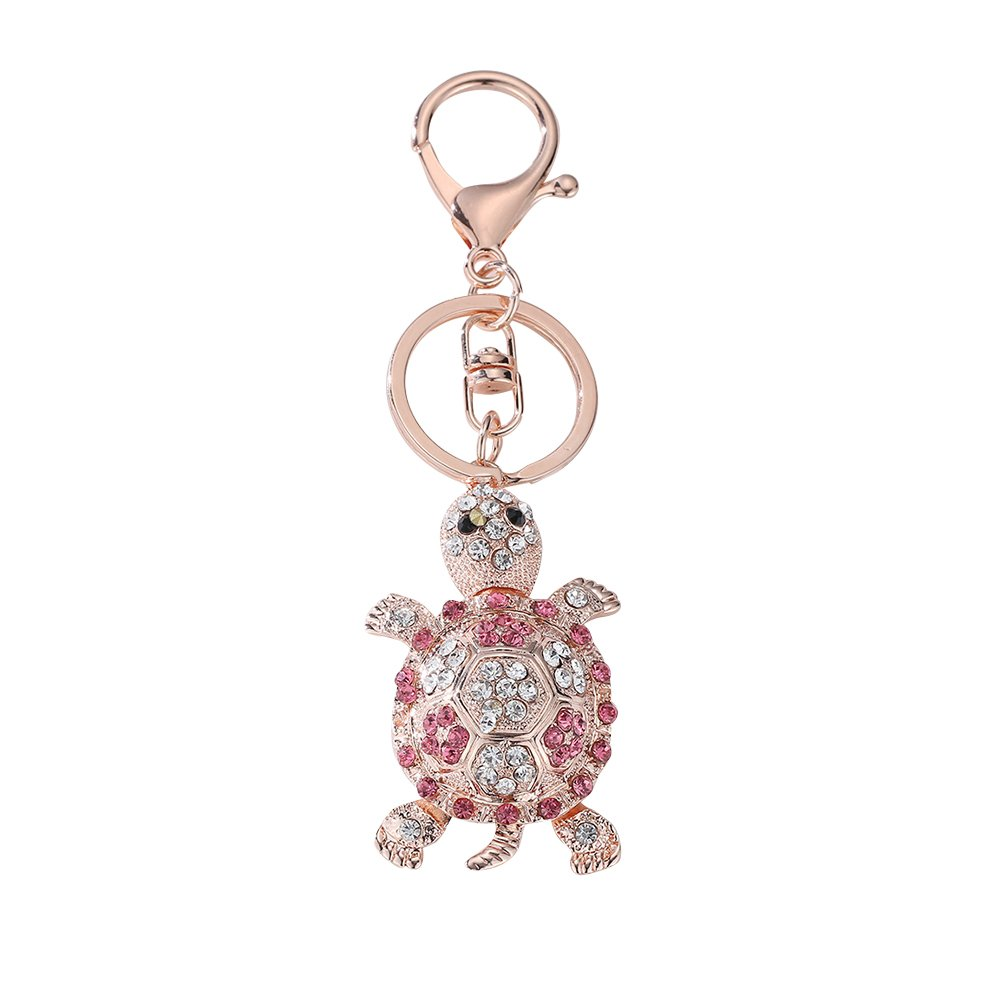 Bangle009 Clearance Sale Sparkling Full Rhinestone Cute Turtle Keychain Car Key Ring Women Bag Ornament