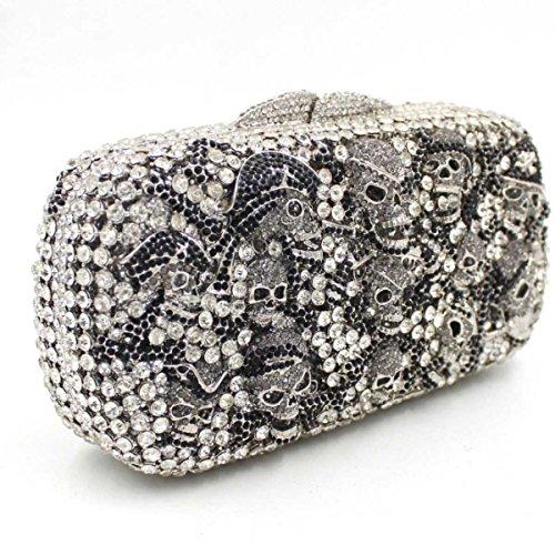 Bolso De Noche Bolsa De Cristal De Diamante De Lujo De Las Mujeres OneColor