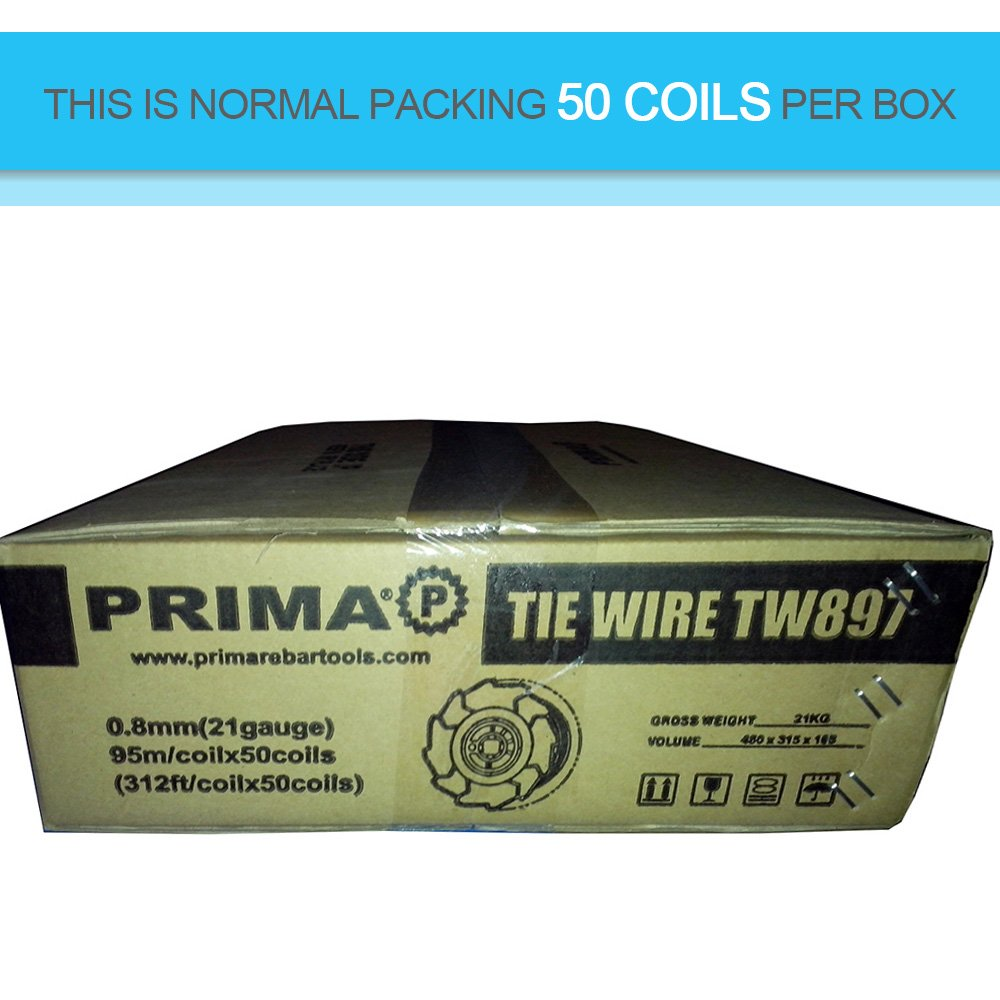 50 Rolls Rebar Tie Wire Coil TW897 for Max, Yenny shop Tying Wire ...