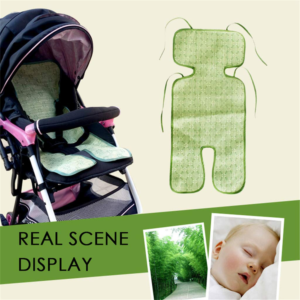 Clothful  Baby Summer Breathable Stroller Cool Seat Mat Ice Silk Cool Pad for Baby Kids