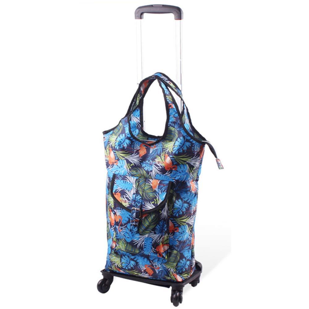 荷物スーツケース、ユニバーサルホイールトロリートラベルバッグ、オックスフォード布防水ショッピングバッグ、ポータブル多機能トロリー(多色オプション),C B07ST636HS C