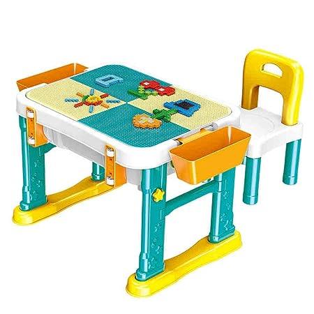 AFCITY-toy Mesa Construye y Aprende, Mesa De Madera For Niños 1-6 ...