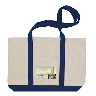 Woman Parasol Garden Argenteuil (Monet) Cotton Canvas Boat Tote Bag Tote