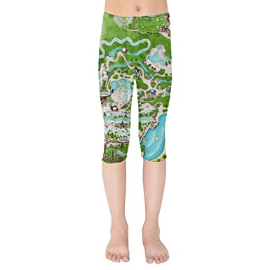Amazon Com Blizzard Beach Map Kids Capri Leggings Clothing