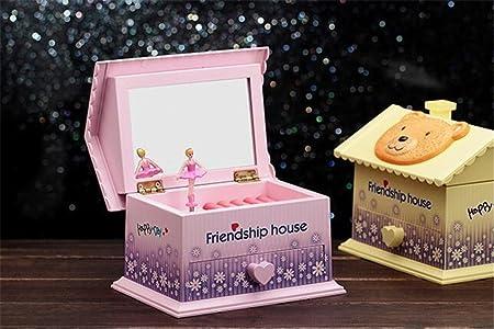 cuzit amistad casa caja de música juguete joyas caja para casa oficina decoración cumpleaños Navidad año nuevo graduación fiesta gift-pink: Amazon.es: Hogar