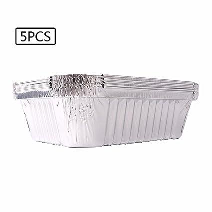 TiaoBug – Lote de papel de aluminio desechables bandejas recipientes para horno para asar broiling cocinar