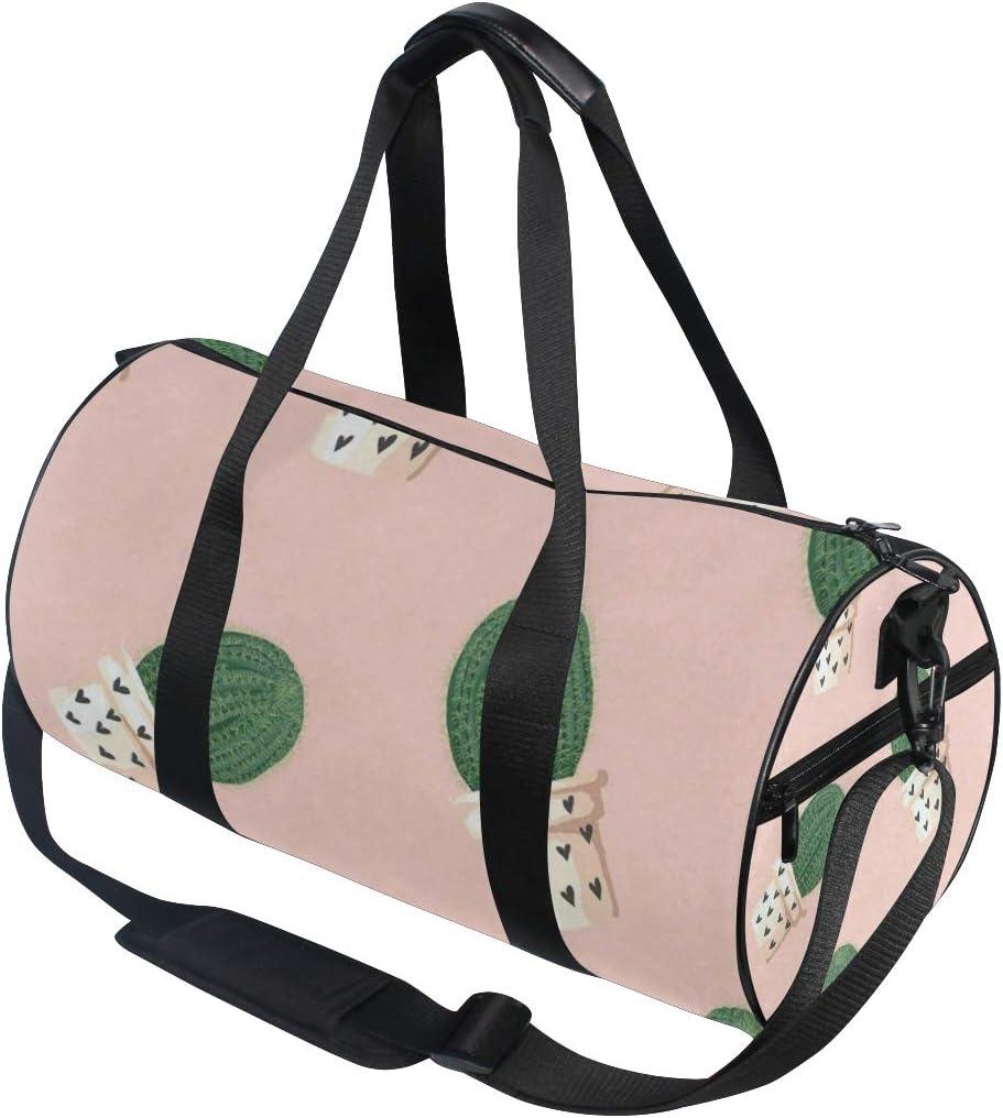 Duffel Bags Tropical Plants Celestial Being Womens Gym Yoga Bag Small Fun Sports Bag for Men