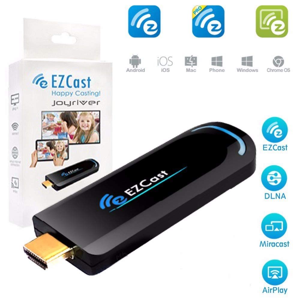EZCast 2 4G WiFi Display Adapter 1080P HDMI Media Streaming TV Stick  Support EZCast App, Airplay, DLNA, MiraCast, EZMirror, and YouTube