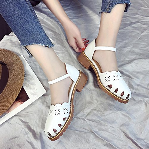 Summer Women Sandals, Wrapped Feet Sandals Point Toe Pumps Sexy Thin Air Heels Footwear Sandals - Heels Ladies Ankle Strap Buckle Shoes Flat Wedges Shoes Footwear Flip Flop Sandal White