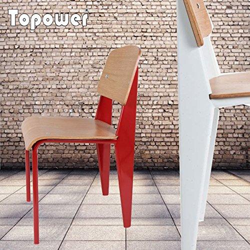 Jean Prouve Creative personalize Standard wooden chair designs 2pcs