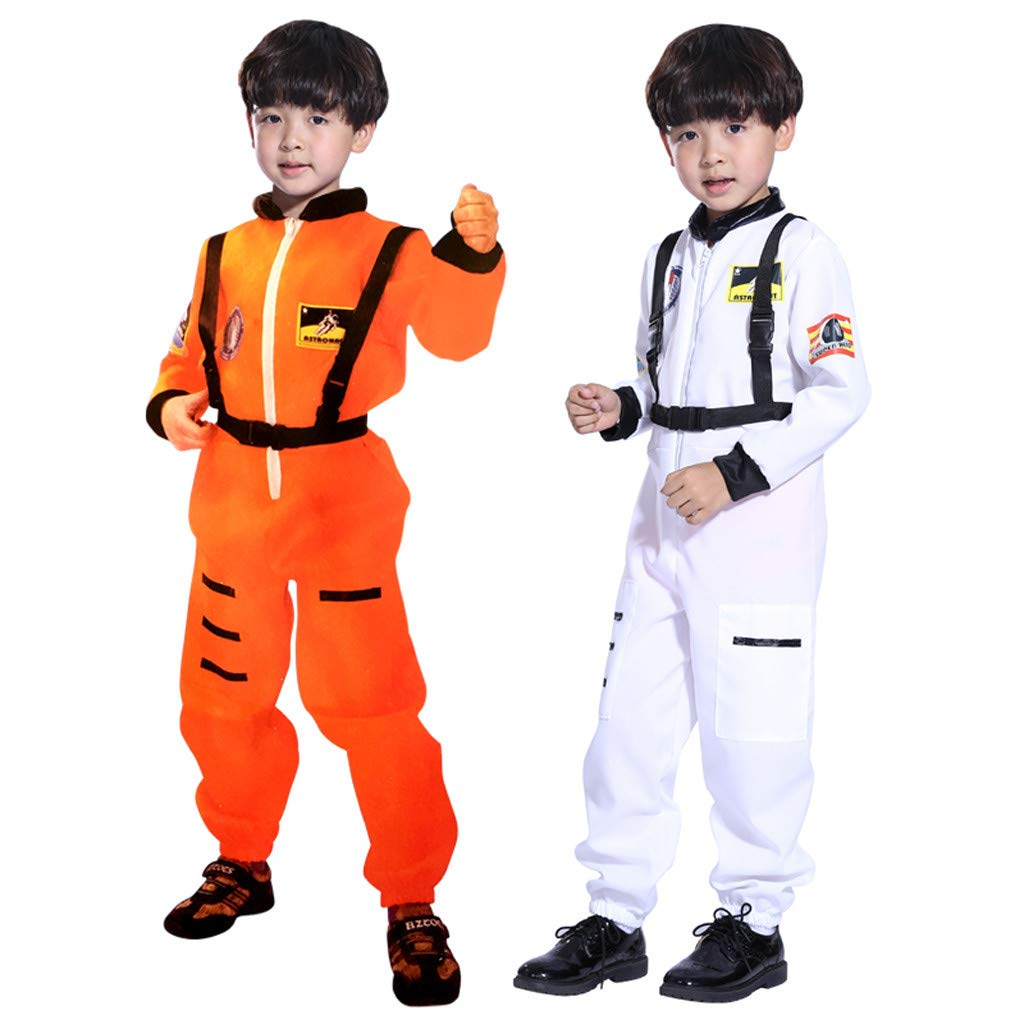 RoDeke Kids Boy Jumpsuit Role Play Astronaut Spaceman Cosplay Flight Space Suit Costume Orange by RoDeke-Baby suit