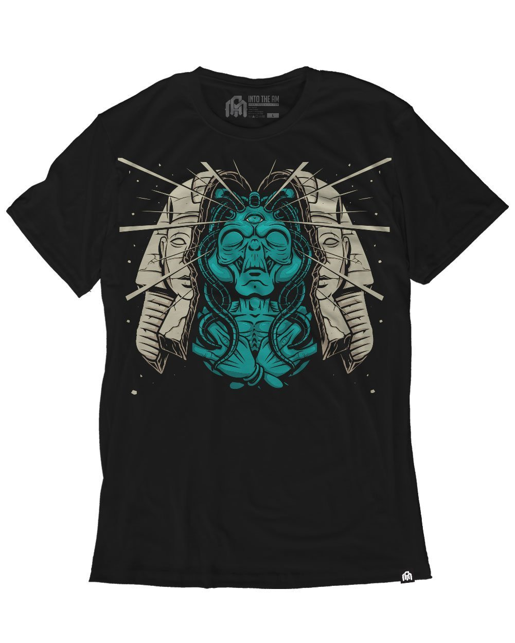 INTO THE AM Alien Sphinx Men's Graphic Tee Shirt (Small)