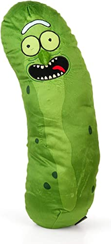 Rick and Morty Pickle Rick Plush Toy Pillow – 20-Inch Stuffed Scientist Doll Collectible Figure – Adult Swim Season 3 Character Plushie – Great Rick Sanchez Funny Cartoon Television Series Fan Gifts