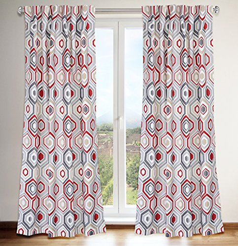 red and gray curtains - 8