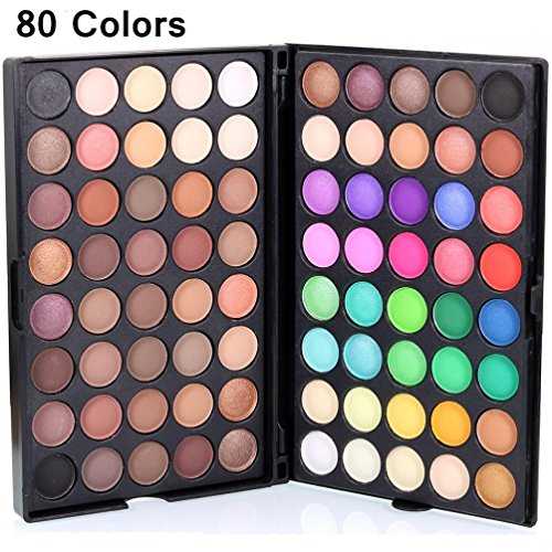 Discount Amiley hot sale Cosmetic Matte Eyeshadow Cream Charms Makeup Palette Shimmer Set 80 Color gift (multicolor) free shipping