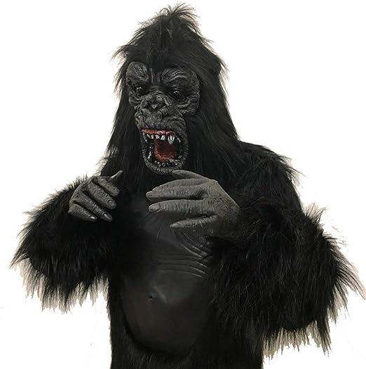 Uus Disfraz de Animal de Halloween, máscara de Peluca de Terror ...