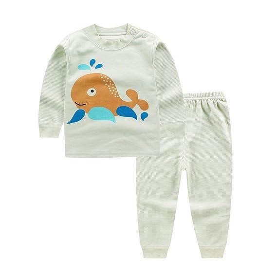 Blaward Pijama Dos Piezas - Cuello Redondo - Manga Larga - para niño Dormir Pijamas Largos