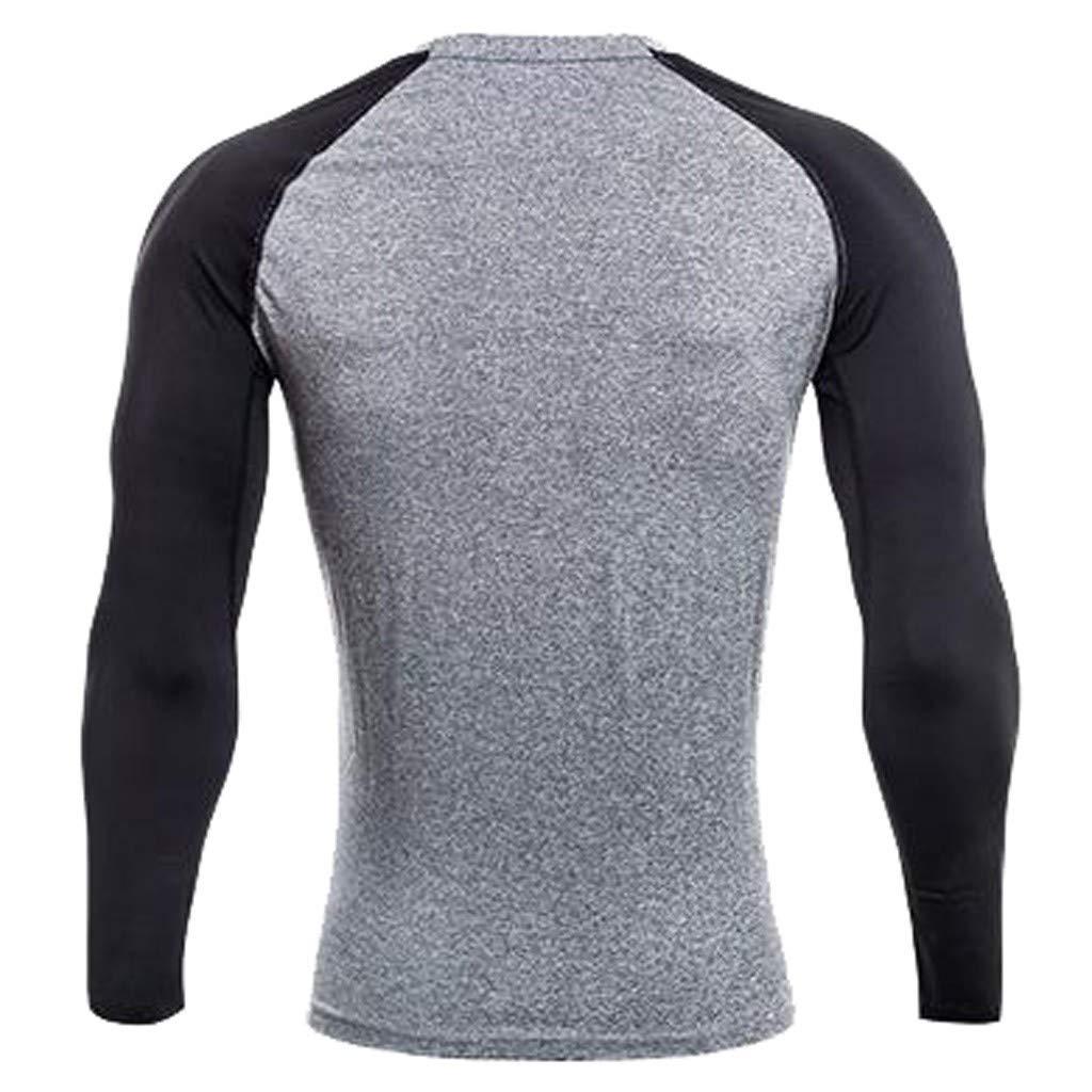 Abbigliamento Sportivo Prodotto,Nero,Grigio,M//L//XL//XXL//XXXL//XXXXL Attillata Senza Cuciture UJUNAOR T Shirt Uomo Manica Lunga Uomo per Palestra