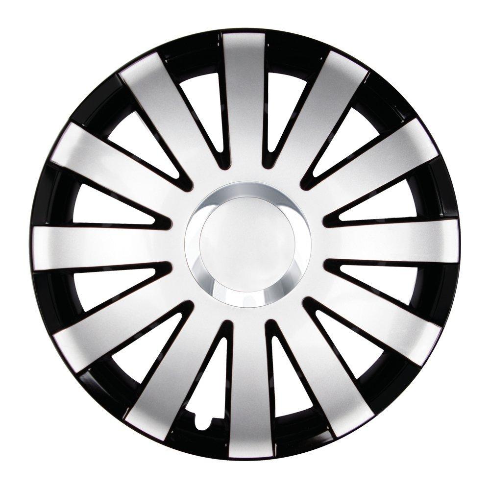 Tapacubos - Tapacubos Tapacubos Onyx Negro Plata 15 Pulgadas Volkswagen VW Polo 6 N 9 N 6R, Lupo, Caddy, Passat: Amazon.es: Coche y moto