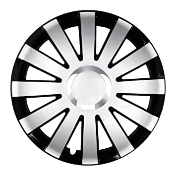 Black Onyx Wheel Trims Hub Caps Silver 14 Inch for Renault Clio, Kangoo, Megane, Thalia Twingo: Amazon.co.uk: Car & Motorbike