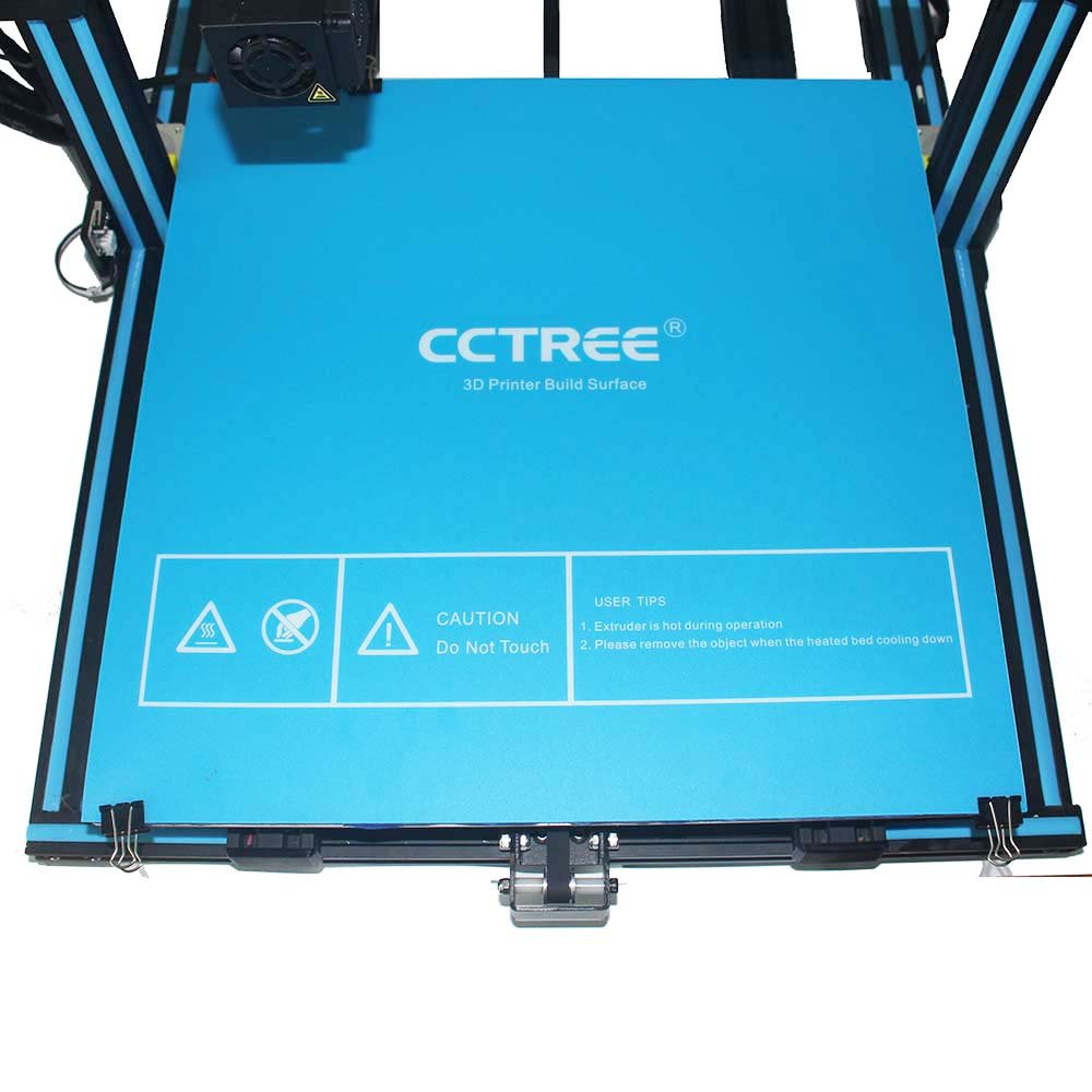 Pack of 2 CCTREE 3D Printer Build Surface with 3M Sticker 3D Printer Heated Bed Sheet for Creality CR-10s S5 500x500mm
