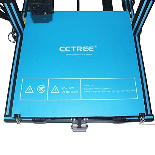 500mm Blue Pack of 2 CCTREE 3D Printer Build Surface with 3M Sticker 3D Printer heated bed Sheet for Creality CR-10 S5 500
