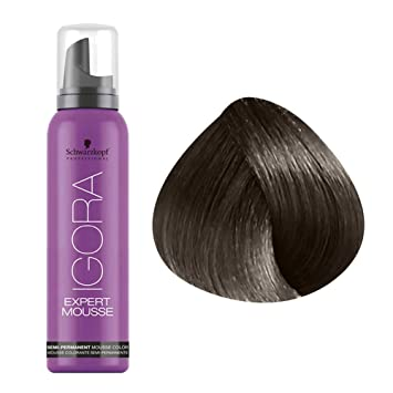schwarzkopf igora expert mousse 5 0 light brown by schwarzkopf professional - Mousse Colorante Schwarzkopf