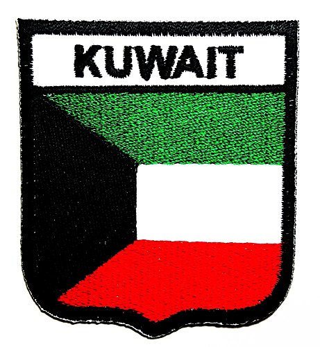 Costumes In Kuwait (Kuwait Country Flag Patch Sew Iron on Logo Embroidered Badge Sign Emblem Costume BY Dreamhigh_skyland)