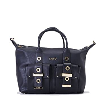 2c181212fb BORSA DONNA LIU JO BAULETTO BAG BEAULIEU NERO 217: Amazon.co.uk: Clothing
