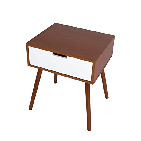 24664e89e12a Peach Tree Office Star Cupertino Chair Side End Table Nightstand with A  Single Drawer Storage