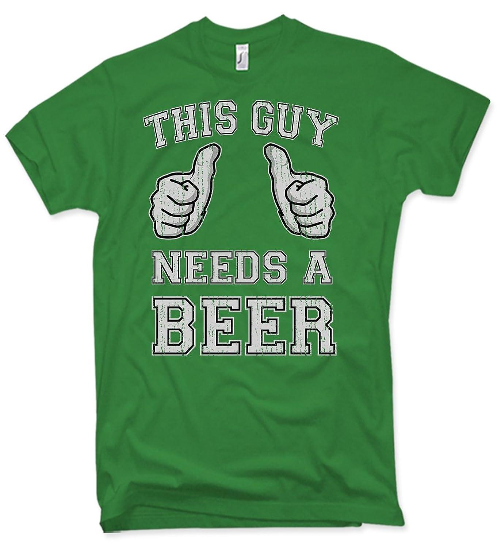 NG articlezz Shirt, This Guy Needs A Beer, Party, Verschiedene Farben, Gr. S  - XXL: Amazon.de: Bekleidung