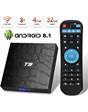 Android 8.1 TV Box Superpow T9 4GB RAM 32GB ROM RK3328 Quad-core Support 4K Full HD 2.4Ghz Wi-Fi BT 4.1 USB 3.0 H.265 Smart TV Box