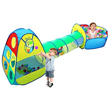 Kids Play Tent with Tunnel and Ball Pool 3 in 1 - VICIVIYA Pop-up  sc 1 st  Amazon UK & Kids Play Tent with Tunnel and Ball Pool 3 in 1 - VICIVIYA Pop-up ...