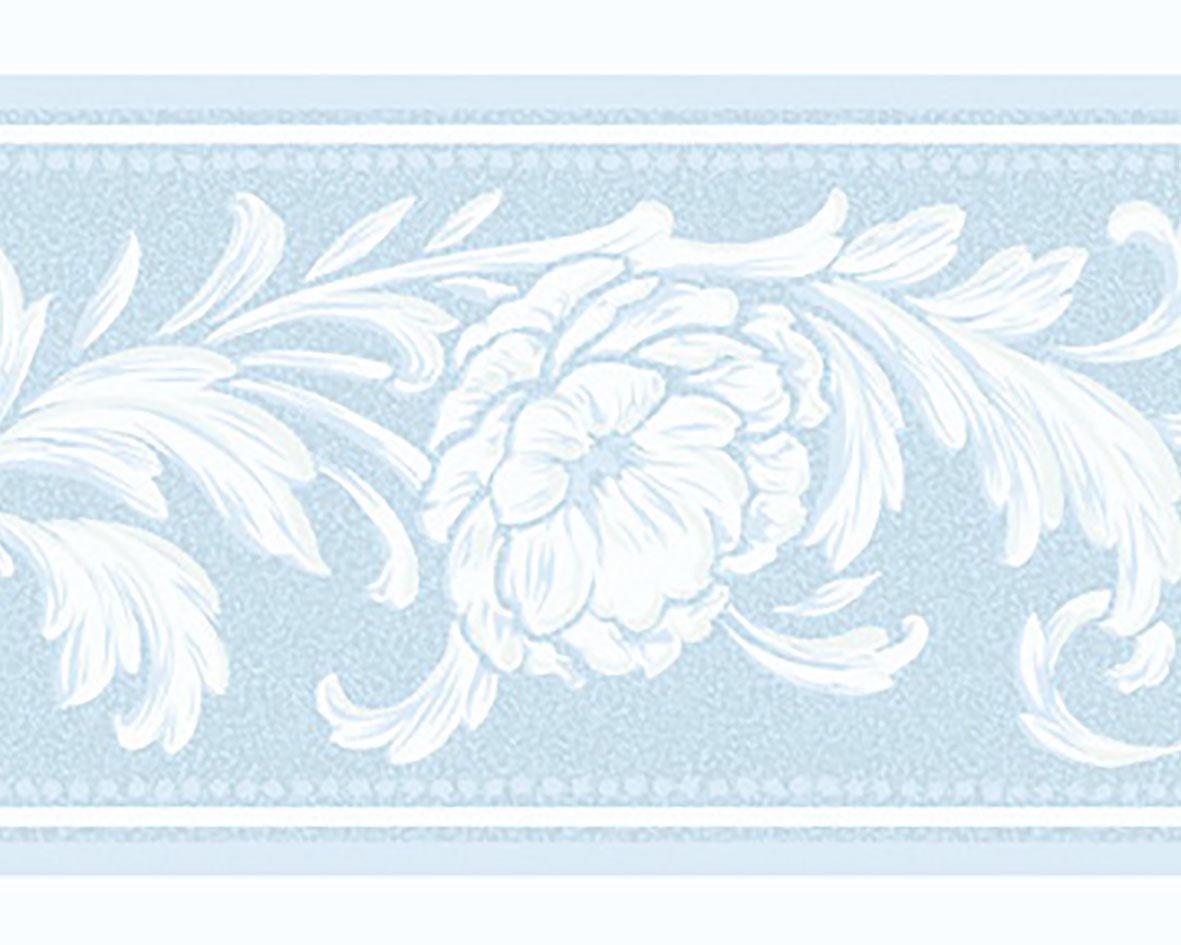 リリカラ トリムボーダー13本 エレガンス 花柄 ブルー  LW-2862 B075ZWGHHZ 13本|ブルー