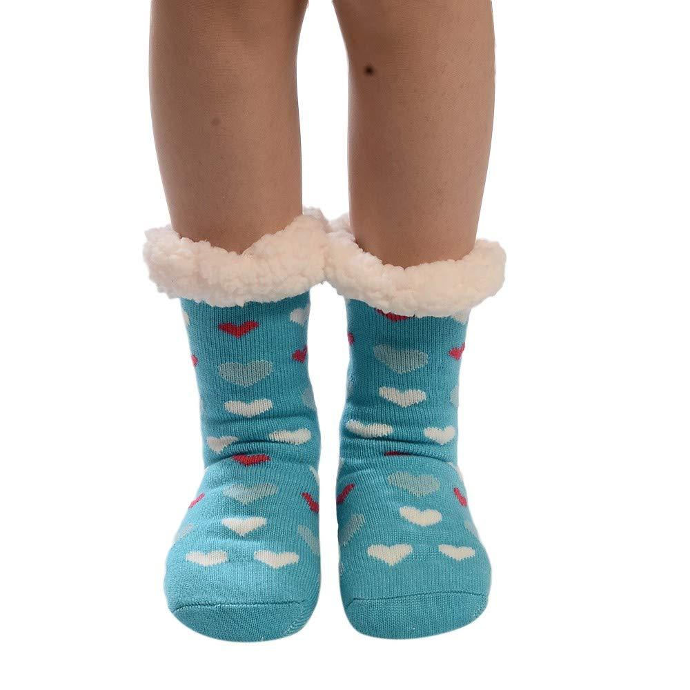 MIRRAY Damen Mädchen Weihnachts Baumwollsocken Drucken Dickere Anti ...