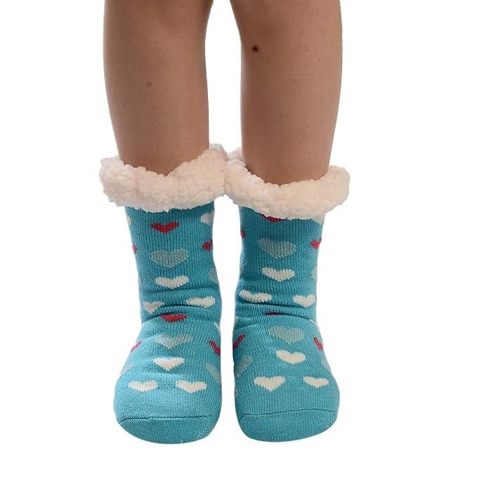 Calcetines de Algodón, ZARLLE Mujeres Suave Cómodo Calcetines de Mascota Divertidos Dibujo imprimen gruesos calcetines antideslizantes del piso Calcetines ...
