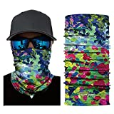 Elastic Tube Magic Scarf Multifunctional Headbands with UV Resistance Face Bandana for Running, Riding, Climbing, Hiking