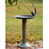 SPI Home 33302 Fishing Frog Sundial/Birdbath