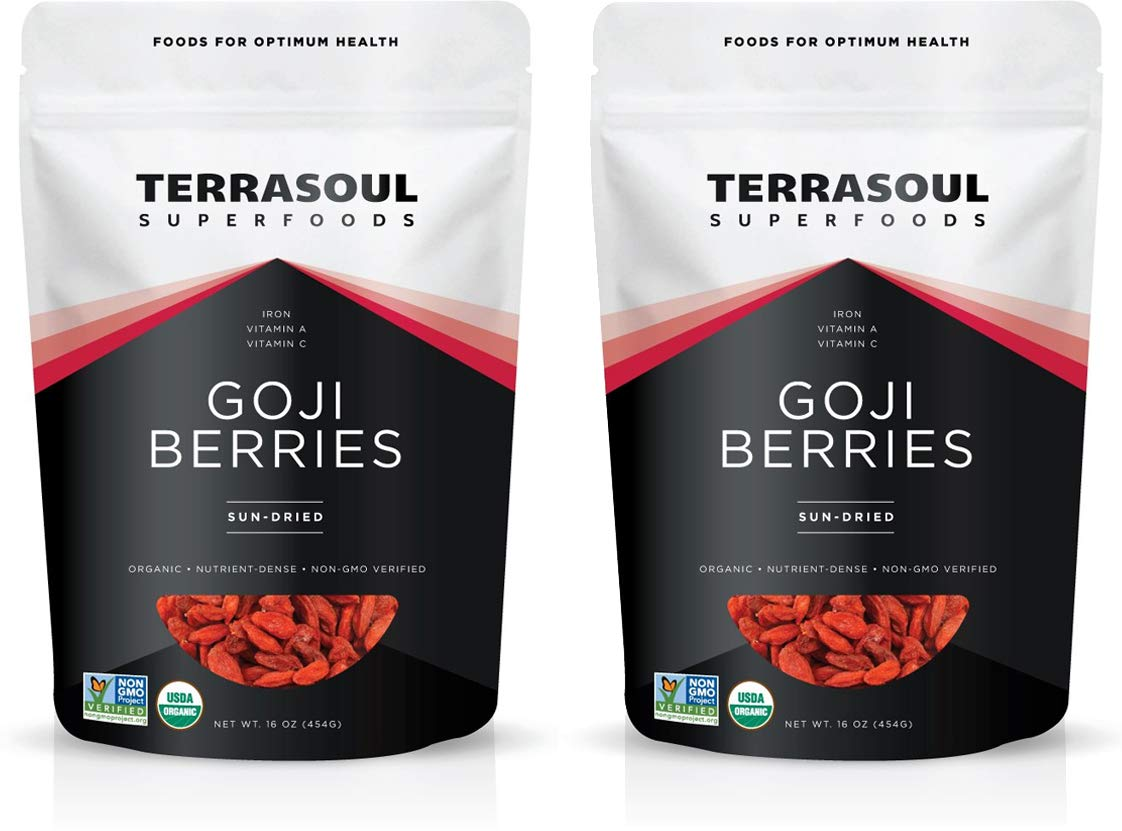 Terrasoul Superfoods Organic Goji Berries, 2 Lbs - Large Size   Chewy Texture   Premium Quality   Lab-Tested
