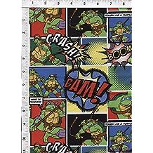 "Springs Creative ""Comic Patch""Teenage Mutant Ninja Turtle Fabric"