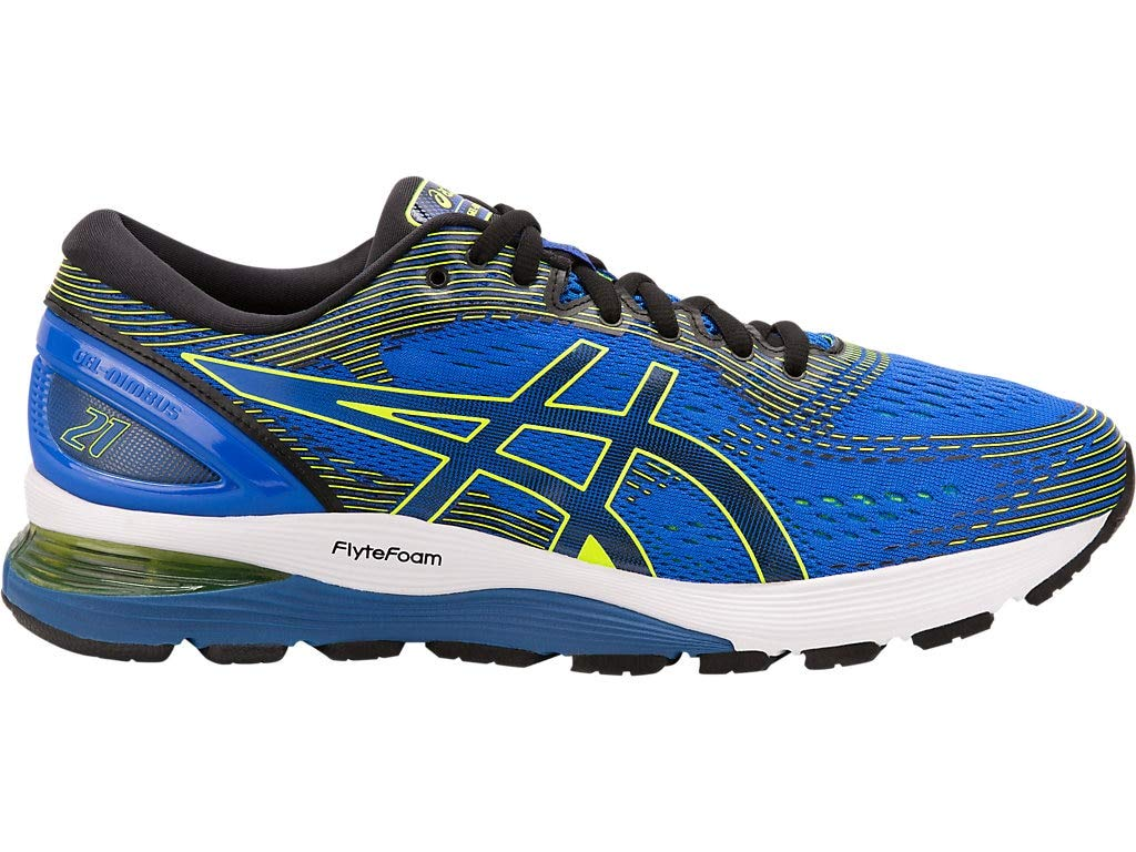 ASICS Men's Gel-Nimbus 21 Running Shoes, 7M, Illusion Blue/Black