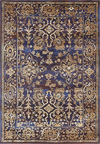 Unique Loom Augustus Collection Boho Traditional Vintage Dark Blue Area Rug 7 0 x 10 0