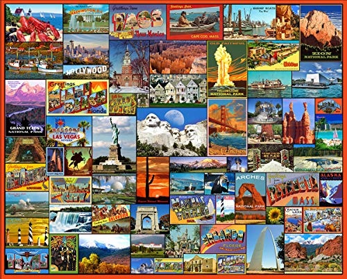 White Mountain Puzzles Best Places in America - 1000Piece Jigsaw Puzzle (Beauty Chipboard)