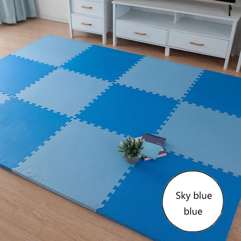 A 60X60×2.5CM(4PIECES) LUYIASI- Le tapis de puzzle de jeu de mousse de bébé d'EVA de jeu de BInterlocking exerce le tapis et le tapis de plancher pour des enfants blanket (Couleur   B, Taille   30X30X1.2CM(24PIECES))