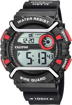 Calypso Watches Reloj Digital para Hombre de Cuarzo con Correa en Plástico K5764/6