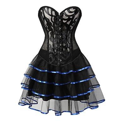 Grebrafan Damen Breathable Corset Party Kleid Corsage mit Tüllrock   Amazon.de  Bekleidung 6e0cdb31b5