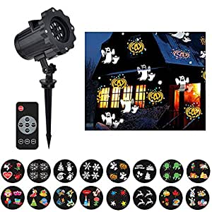 16 Patterns Christmas Light Projector LED Xmas Light Outdoor Projector Garden Light Show Decoration Spotlight for Holiday Party