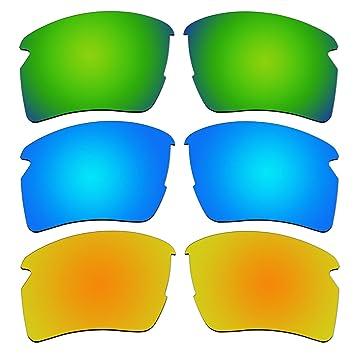 3 pares lentes polarizadas de recambio para Oakley Flak 2.0 XL gafas de sol Pack P15