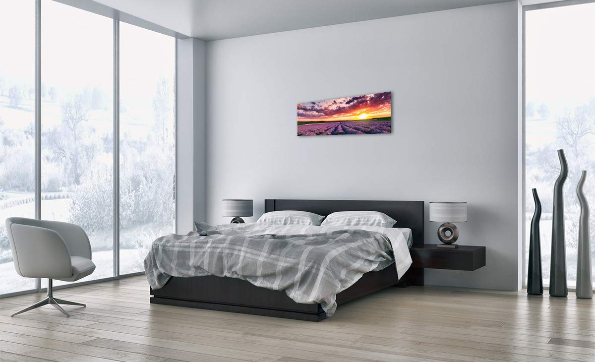 Einteilig zum Aufh/ängen bereit Kunstdruck GAB90x30-3816 Glas Glasbilder Breite: 90cm Bildnummer 3816 H/öhe: 30cm