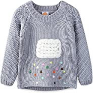 Mud Kingdom Little Girls Sweaters Pullover Cute Cloud and Colorful Rains